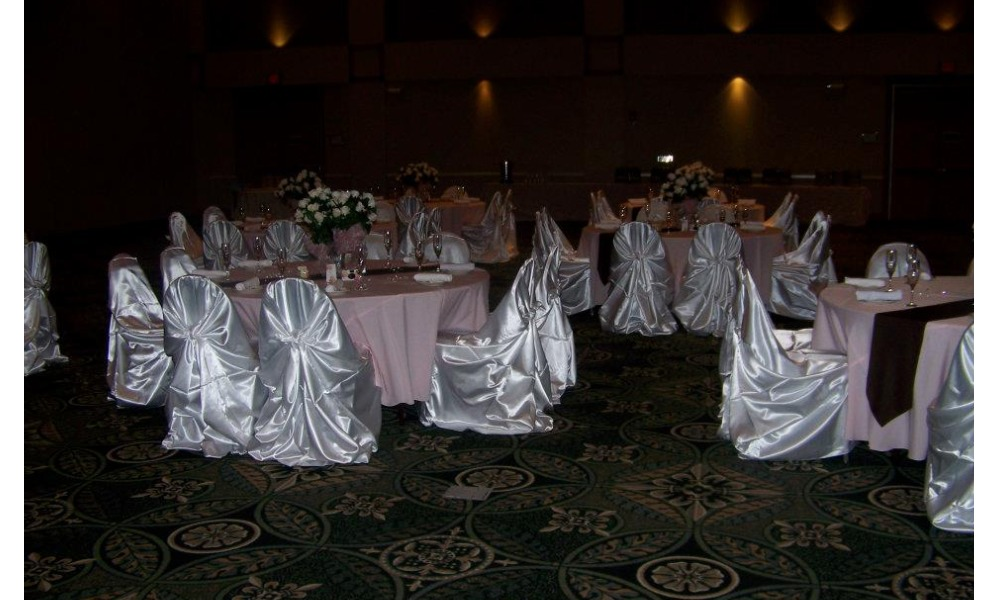 pink white wedding